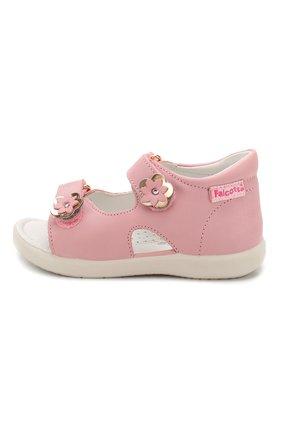Детские кожаные босоножки FALCOTTO розового цвета, арт. 0011500727/01 | Фото 2