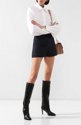 Женские кожаные сапоги valentino garavani go logo VALENTINO черного цвета, арт. SW2S0N04/DSH   Фото 2