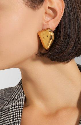 Женские серьги rock BALENCIAGA золотого цвета, арт. 578183/TZ35Z | Фото 2