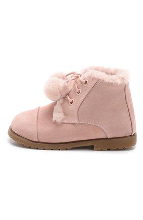 Детские замшевые ботинки AGE OF INNOCENCE розового цвета, арт. 000024/Z0EY P0NP0N/20-26 | Фото 2
