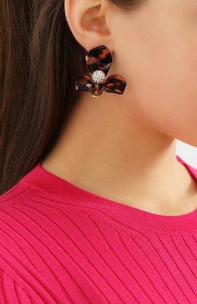 Женские серьги LELE SADOUGHI коричневого цвета, арт. LS0754RT | Фото 2