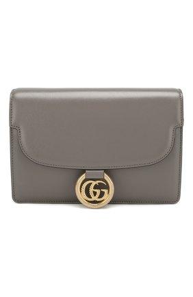 Женская сумка gg ring small GUCCI серого цвета, арт. 589474/1DB0G | Фото 1
