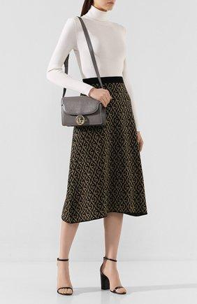 Женская сумка gg ring small GUCCI серого цвета, арт. 589474/1DB0G | Фото 2