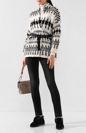 Женские замшевые ботинки SANTONI черного цвета, арт. WUYA58457SM0APYLN01 | Фото 2
