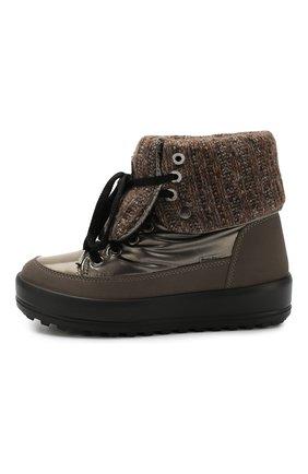 Текстильные ботинки | Фото №3