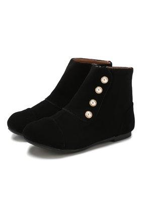 Детские замшевые ботинки AGE OF INNOCENCE черного цвета, арт. 000141/NATALIE/22-28 | Фото 1