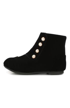 Детские замшевые ботинки AGE OF INNOCENCE черного цвета, арт. 000141/NATALIE/22-28 | Фото 2
