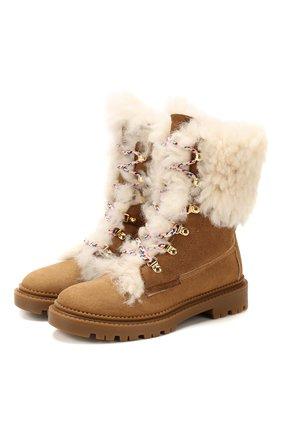 Женские замшевые ботинки CASADEI коричневого цвета, арт. 1R143N0211GRANS2804 | Фото 1