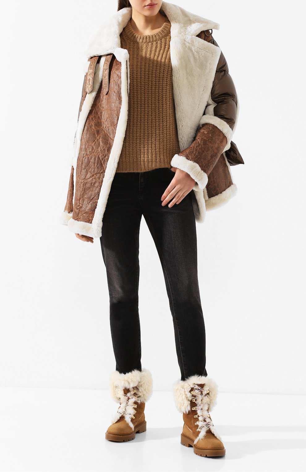 Женские замшевые ботинки CASADEI коричневого цвета, арт. 1R143N0211GRANS2804 | Фото 2