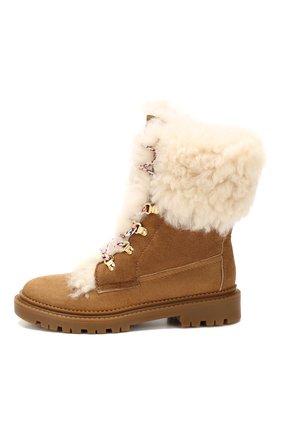 Женские замшевые ботинки CASADEI коричневого цвета, арт. 1R143N0211GRANS2804 | Фото 3
