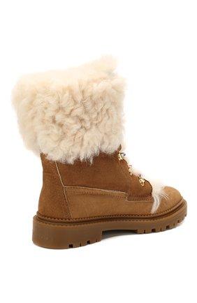 Женские замшевые ботинки CASADEI коричневого цвета, арт. 1R143N0211GRANS2804 | Фото 4