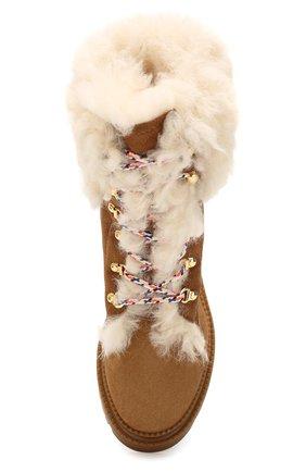 Женские замшевые ботинки CASADEI коричневого цвета, арт. 1R143N0211GRANS2804 | Фото 5