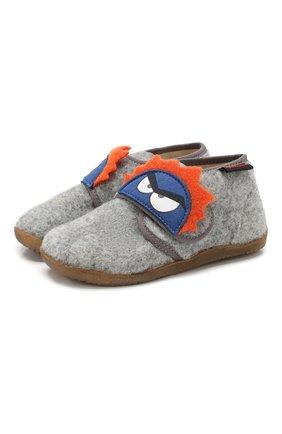 Детского домашние ботинки NATURINO серого цвета, арт. 0014000648/01/24-26 | Фото 1