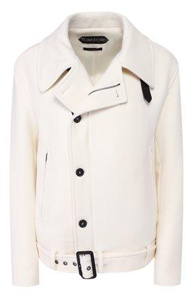 Женская шерстяная куртка TOM FORD белого цвета, арт. CS1059-FAX211 | Фото 1