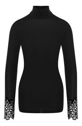Женская водолазка из смеси кашемира и шелка DANA PISARRA черного цвета, арт. NAMUR/552033 | Фото 1