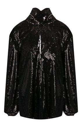 Женская блузка с пайетками RACIL черного цвета, арт. RS9-T3-F-CHER | Фото 1