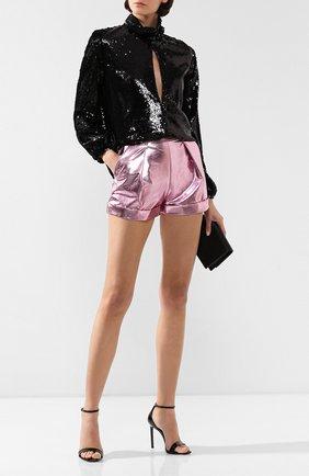 Женская блузка с пайетками RACIL черного цвета, арт. RS9-T3-F-CHER | Фото 2