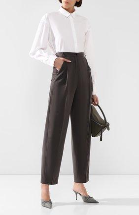 Женские брюки со стрелками ACNE STUDIOS темно-серого цвета, арт. AK0158 | Фото 2