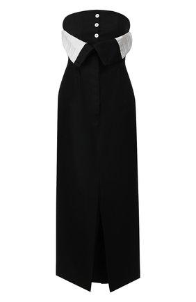 Женское шерстяное платье ACNE STUDIOS черного цвета, арт. A20152 | Фото 1
