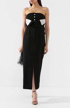 Женское шерстяное платье ACNE STUDIOS черного цвета, арт. A20152 | Фото 2