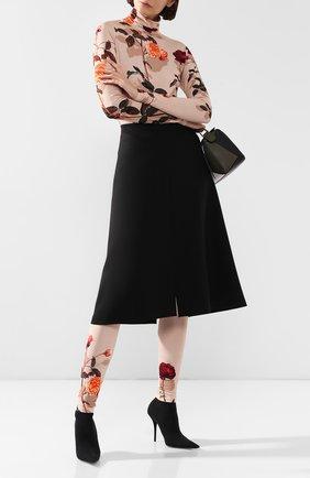 Женские леггинсы с принтом DRIES VAN NOTEN бежевого цвета, арт. 192-11159-8618 | Фото 2
