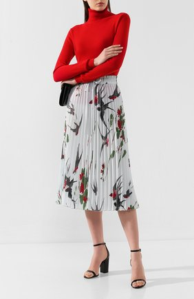 Женская плиссированная юбка REDVALENTINO бирюзового цвета, арт. SR0RAB85/4J6   Фото 2