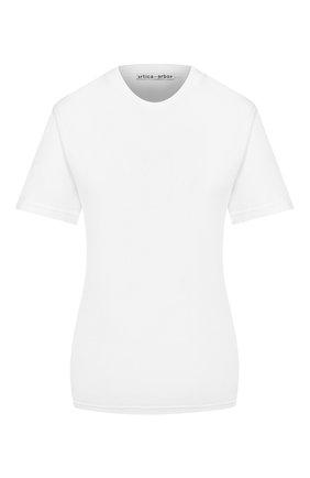 Женская хлопковая футболка ARTICA ARBOX белого цвета, арт. 8011/9100   Фото 1