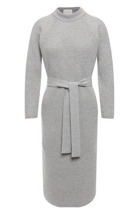 Женское платье из смеси шерсти и кашемира FORTE_FORTE светло-серого цвета, арт. 6830 | Фото 1