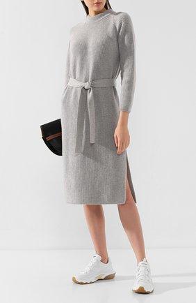 Женское платье из смеси шерсти и кашемира FORTE_FORTE светло-серого цвета, арт. 6830 | Фото 2