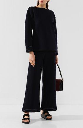 Женская шерстяной пуловер MARNI темно-синего цвета, арт. FLJE0057DX/TW668 | Фото 2
