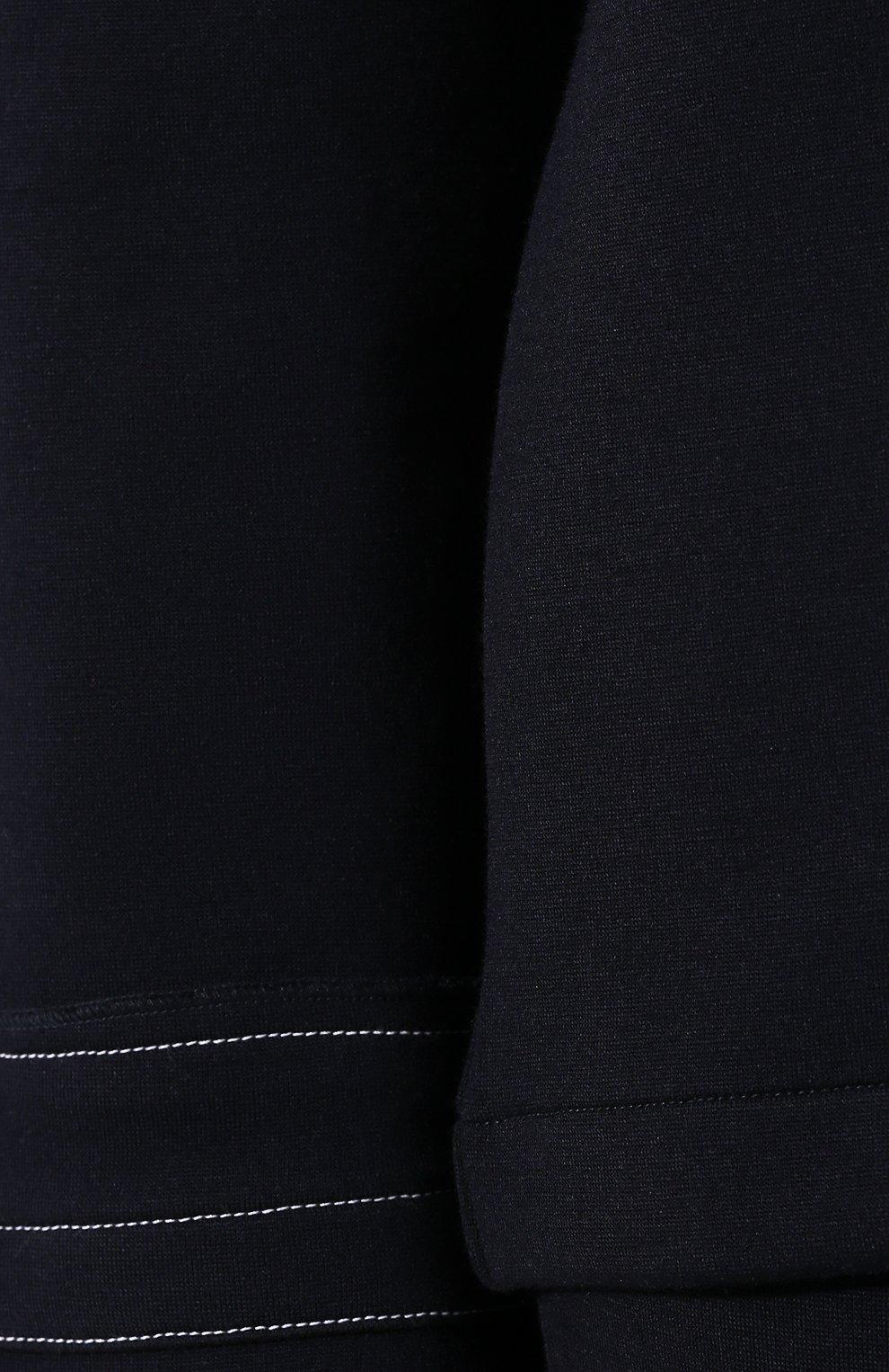 Женский шерстяной пуловер MARNI темно-синего цвета, арт. FLJE0057DX/TW668   Фото 5
