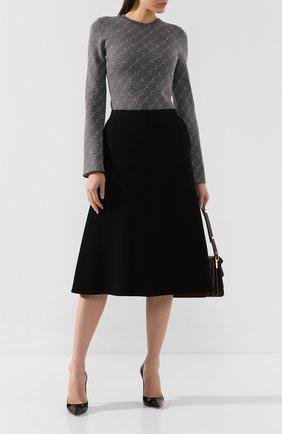 Женская шерстяная юбка STELLA MCCARTNEY черного цвета, арт. 591610/SJB30   Фото 2