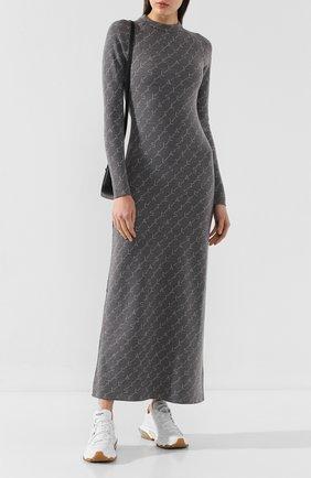 Женское шерстяное платье STELLA MCCARTNEY серого цвета, арт. 574751/S2093 | Фото 2