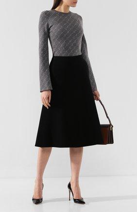 Женская шерстяной пуловер STELLA MCCARTNEY серого цвета, арт. 574750/S2093   Фото 2