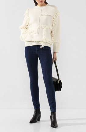 Женские джинсы STELLA MCCARTNEY темно-синего цвета, арт. 555914/SNH25 | Фото 2
