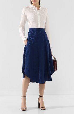Женская блузка из смеси вискозы и шелка STELLA MCCARTNEY белого цвета, арт. 531885/SNA57 | Фото 2