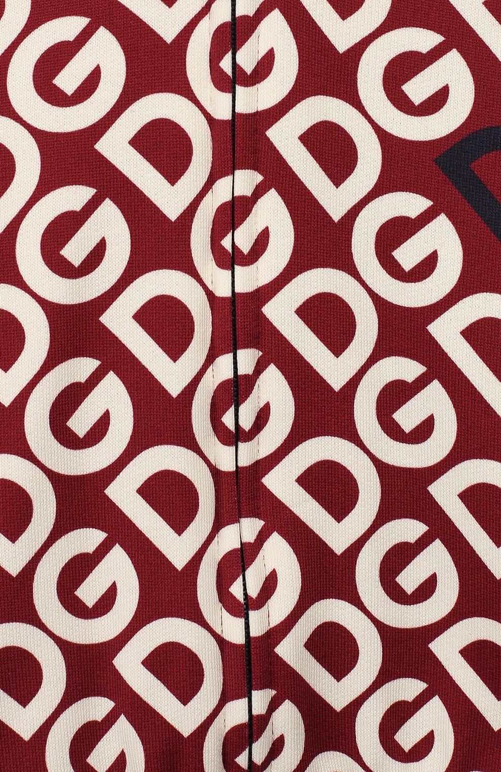 Детский хлопковый кардиган DOLCE & GABBANA бордового цвета, арт. L1JW4W/G7TXK | Фото 3