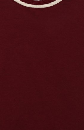 Детский хлопковая футболка DOLCE & GABBANA бордового цвета, арт. L1JT8A/G7TXE | Фото 3