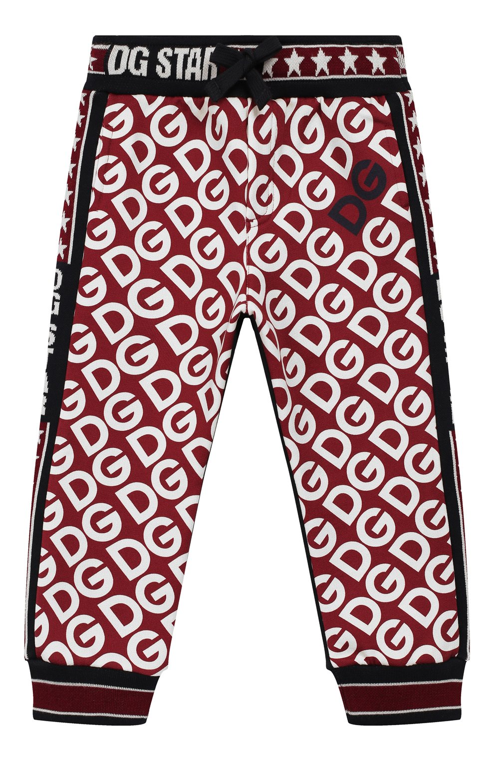 Детские хлопковые брюки DOLCE & GABBANA бордового цвета, арт. L1JPW3/G7TXJ   Фото 1