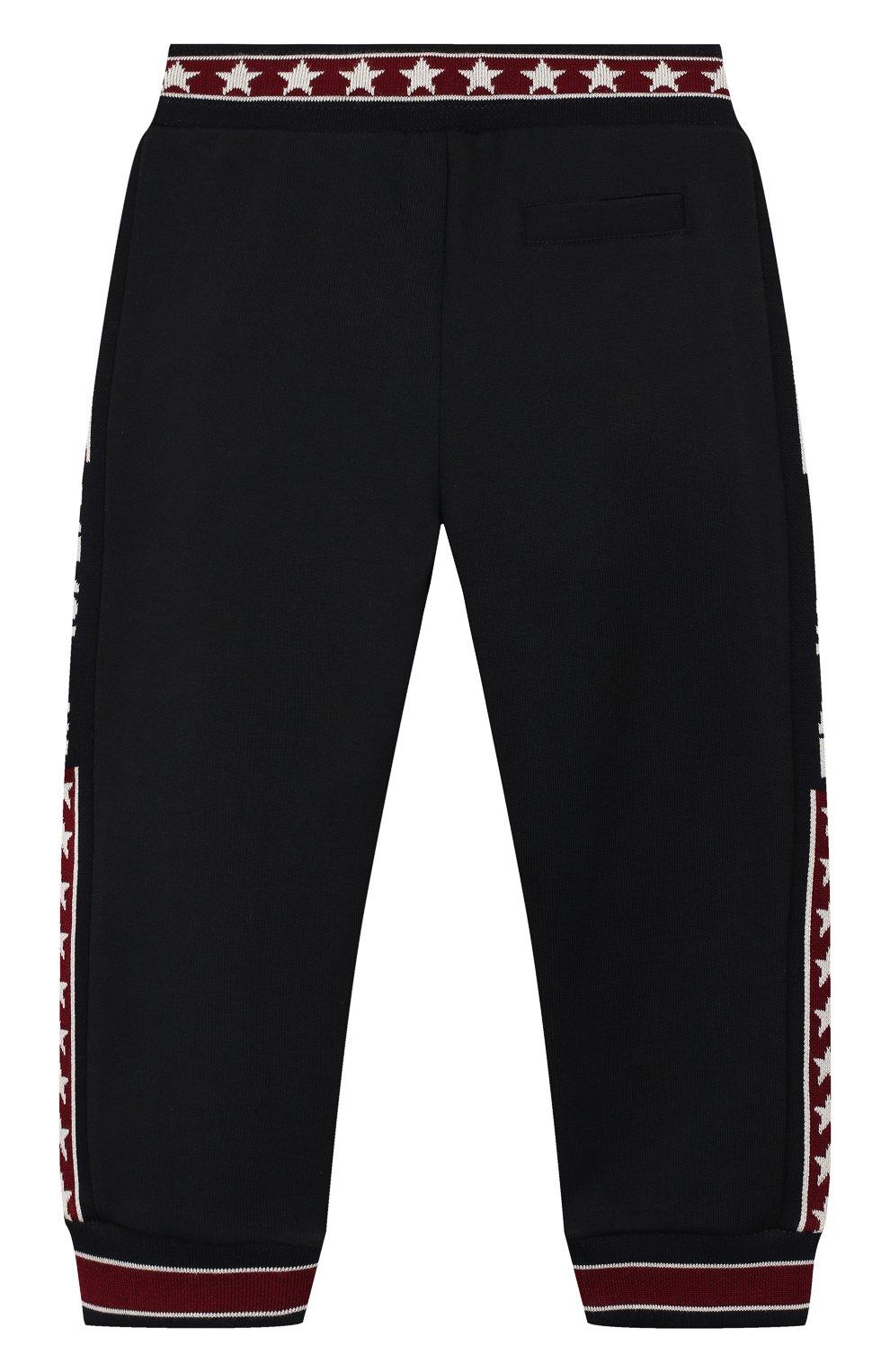 Детские хлопковые брюки DOLCE & GABBANA бордового цвета, арт. L1JPW3/G7TXJ   Фото 2