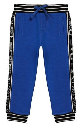 Детские брюки DOLCE & GABBANA синего цвета, арт. L1JPAA/G7TUT | Фото 1