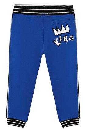 Детские брюки DOLCE & GABBANA синего цвета, арт. L1JPAA/G7TUT | Фото 2