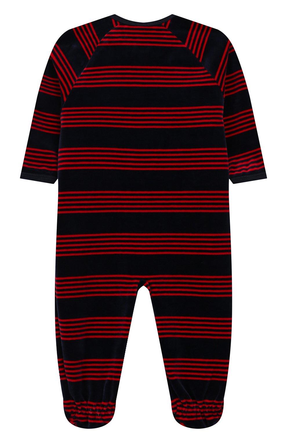 Детский хлопковый комбинезон SANETTA синего цвета, арт. 221461 | Фото 2