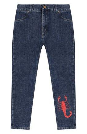 Детские джинсы MINI RODINI голубого цвета, арт. 19730103 | Фото 1