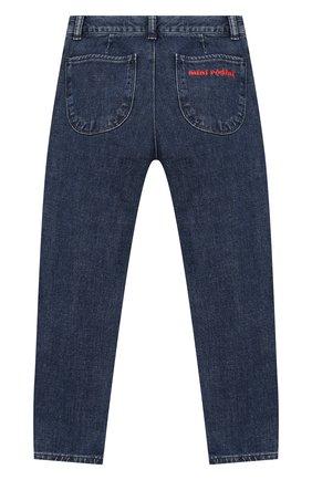 Детские джинсы MINI RODINI голубого цвета, арт. 19730103 | Фото 2