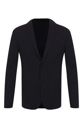 Мужской пиджак из вискозы HUGO темно-синего цвета, арт. 50411699   Фото 1
