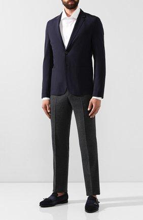 Мужской пиджак из вискозы HUGO темно-синего цвета, арт. 50411699   Фото 2