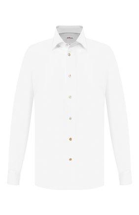 Мужская хлопковая сорочка KITON белого цвета, арт. UMCNERH0702101 | Фото 1