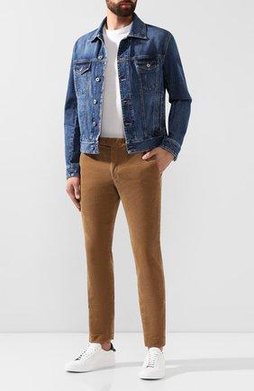 Мужской хлопковые брюки POLO RALPH LAUREN бежевого цвета, арт. 710722642   Фото 2