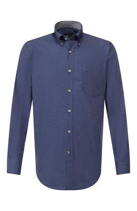 Мужская хлопковая рубашка PAUL&SHARK синего цвета, арт. I19P3301 | Фото 1